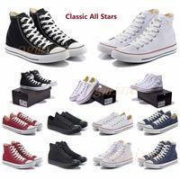 Классический холст 1970-х годов Повседневная Обувь Платформа Привет Реконструированное Slam Jam Triple Черный Белый Высокий Низкий Мужские Женщины Спортивные кроссовки 36-44 6JYX #