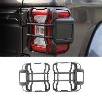 Arka Lambası Kapak Guard Jeep Wrangler JL 2018 2019 2020 2021 Kuyruk Işık Dekoratif Sticker Trim Lamba Hoods Araba Aksesuarları ABS