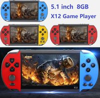 X12 Game Player 8GB Memory Portable Video Game Consoles with 5.1 inch Screen Support TF Card 32gb MP3 MP4 MP5 Player