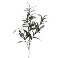 Yapay Avrupa Zeytin Ağacı Dalları Zeytin Meyve Yaprakları Ile Ev Otel Düğün DIY Dekorasyon Çiçekler Bitkiler Çelenk Yaprağı