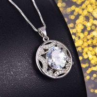 Ciondolo rotondo classico di lusso di lusso HBP, Super Flash Anti Drilling, Collana Diamante cavo, 2021 Nuovo stile