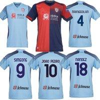 21 22 Cagliari Calcio Ev Futbol Formaları Üçüncü 2021 2022 Godin Joao Pedro Nandez Nainggolan Marin Simeone Sottil Oliva Pavoletti Maglie da Futbol Gömlek
