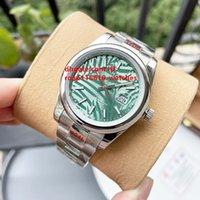 2021 Productos Mujeres Mensajes Mecánicos automáticos 36mm Patrón de hoja Parejas de la moda de las señoras 40mm Relojes de pulsera Regalos