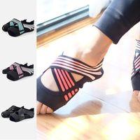 Sports Socks Yoga Water Shoes Toeless Anti-Skid Pilates Barre Ballet Bikram Workout With Grips Quick-Dry Men Women