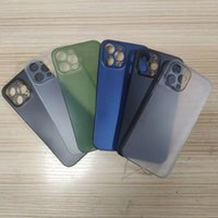 0.3mm Ultra Thin Mobile phone cases Slim Matte Frosted Transparent Clear Flexible PP Cover CellPhone Case For iPhone 13 12 mini 11 Pro Max XS XR X 8 7 Plus back covers