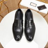 새로운 노새 망 가죽 신발 금속 체인 프린트 타운 특허 가죽 캐주얼 신발 남성 비즈니스 로퍼 패턴 패션 신발 버클
