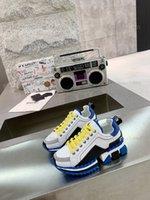 Ребенок 5a Monclair Высокое качество Итальянские Мужские Привет Лучшие кроссовки Италия Triple S Кожаный Холст Платформа Тренеры Черный Белый Случайные Плоские Шнурки Обувь