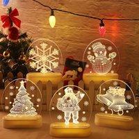 Christmas Night Lights Christmas Decorations Santa Snowman LED Light Bedroom 3D Table Lamp Xmas Gift FWA9215