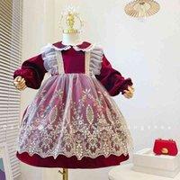 Mädchen Lolita Herbst 21 Schwere Industrie Spitze Gefälschte zweiteilige Prinzessin Kleid Spanisches Gerichtskleid