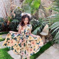 2021 HAUTE QUALITÉ LIVRAISON GRATUIT GRATUIT Bébé Filles Robes Été Children Robe Floral Robe sans manches Robe pour enfants pour filles papillons filles vêtements