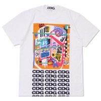 Más nuevo COM Venta al por mayor Nueva Mejor Calidad CDG DES Hot Holiday Play Garcons T-shirt Blanco Corazón de rayas Parejas Camisetas de manga corta T-Shirts