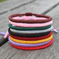 Simple Design Hand Braided Red Rope Bracelet Ethnic Men Women Lovers Couple Braclet For Armband Lucky String Jewelry