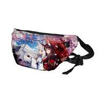 Plecak Kawaii Azur Lane Cosplay 3D Merch Duża Pojemność Pieszeń Pierś Talii Streetwear Hiphop Wysokiej Jakości Odkryty