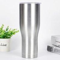 Современные изогнутые тумблеры с тонкой крышкой из нержавеющей стали, тумблер вакуумной утепленной кружки, большая емкость, питьевая колба для питья DHB7685