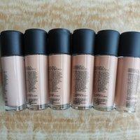 Brand Cosmetic 6 Färg Flytande Foundation SPF15 NC15 NC20 NC25 NC30 NC35 NC40 35ml CONCALER Highlighter Lighten Makeup DHL