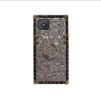 bling Phone Cases iPhone 12 11 Pro Max for Samsung Galaxy S9 S8 S10 S21 S20 Ultra 10 NOTE20 case with Lanyard ring stand