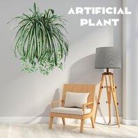 النباتات الاصطناعية الجدار شنقا الكلوروفيتوم بوعاء النباتات الخضراء pvc وهمية محاكاة زهرة غرفة المعيشة في الهواء الطلق ديكور المنزل