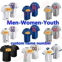 2021 Chicago Anthony Rizzo Jersey Javier Baez Krisbryant Kyle Schwarber Jason Heyward Albert Almora Jr. David BOTE MEN Frauen Jugend Baseball Trikots