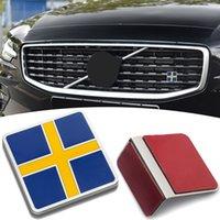 Autocollant de logo de drapeau suédois en métal 3D pour Volvo XC40 XC60 XC70 XC80 XC90 V40 V50 V60 V70 V90 Grill Créal d'arrière Badge Accessoires
