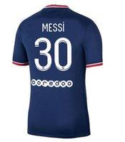 21 22 Pari S Messi Sergio Ramos Jerseys Wijnaldum Saint Germain Mbappe Hakimi Camisa de Futebol Marquinhos Verratti Homens + Kid Kit Maillots Equipe