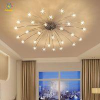 Nordic Star Chandelier Light Sliver Gold Shell Deckenleuchten Home Wohnzimmer Dekor Pedant Beleuchtung Lampe mit G4 Birne