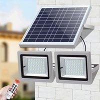 Solar Floodlight double head lamps LED Spotlight 63LEDs 120LEDs 160LEDs 200LEDs Landscape Light For Outdoor Street Garden