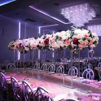 Новый стиль Прозрачный акриловый цветок Стенд Свадебный центральный стол Украшение стола Геометрическая колонна Пол-опорный реквизит