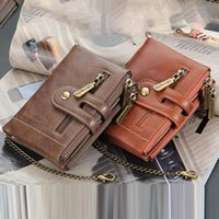 Card Holders 2021 Men Wallets Large Capacity Safe Buckle Multi-grid Faux Leather Fashion Holde Coin Bag Wallet For Man