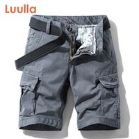 Lualla Men Lean New Premium Stretch Twill Хлопок Шорты грузов Мужчины Повседневная Мода Сплошные Классические Карманы Ногвей Шорты 28-38 210306