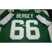 001 Bill Bergey # 66 Dikişli Dikişli Retro Jersey Tam Nakış Jersey Boyutu S-4XL veya Özel Herhangi Bir Ad veya Numara Forması