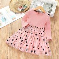 الفتاة فساتين jargazol الربيع الفتيات الصغير زي طويلة الأكمام الأميرة اللباس ستار شبكة الملابس الخريف أزياء الأطفال itfits vestidos