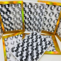 20 пар / коробка 15 мм 25 мм смешанные стили 3d норки ложные ресницы натуральные длинные ресницы ручной работы Уиска пушистый пушистый сексуальный глаз