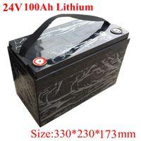 Impermeable 24V 100Ah Batería de iones de litio Bicicleta eléctrica 24V Solar Golf Coche Lipo Batería Lipo para carretilla elevadora + 29.4V 10A Cargador
