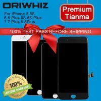 Oriwhiz Tianma LCD iPhone 5 5 S 6 Artı 6 S 7 8 Sayısallaştırıcı Meclisi Değiştirme Ekran Hassas Dokunmatik Dayanıklı Kalite Siyah Beyaz