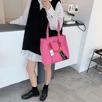 HBP سعة كبيرة المرأة حقيبة 2021 أحدث مصمم الأزياء التسوق totb قماش المحافظ السيدات سيدات بسيط وتنوع الكتف حقائب اليد بالجملة