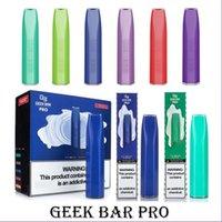 Geek Bar Pro Tek Kullanımlık Vape E Sigaralar 1500 Puffs Kalem 4.5ml Tercih Edilen Pods Kartuş 850 mAh Pil Starter Kiti
