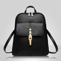 HBP high quality Soft leather Women Backpacks Large Capacity School Bags For Girl ShoulderBag Lady Bag Travel Backpack RoseRed