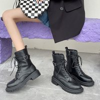 Boots Ankle For Women Heels Platform Shoes Woman Wedges Chunky Female Black Designer 2021 Booties