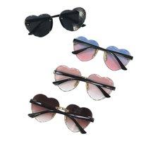 Mode Kleinkind Kind Pfirsich Herzform Sonnenbrille Sommer Süße UV-Schutz Frameless Vintage Sonnenglas Für Kinder Jungen Mädchen
