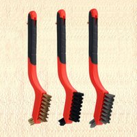 Car Sponge 3Pcs Wire Brush Nylon Brass Stainless Steel Bristles For Rust Dirt Paint Scrubbing With Deep Cleaning