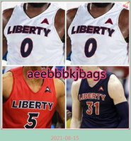 NCAA Koleji Liberty Alevler Basketbol Forması 0 Myo Baxter-Bell 1 Caleb Homesley 2 Darius McGhee 3 Lovell Cabbil JR 4 Tytist Dean Özel Dikişli