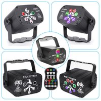 Mini RGB DJ Disco Light LED Laser Lighting USB Powered Sound Activated Projector Red Blue Green Remote Control Stage Lamp for Wedding Birthday Party