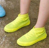 Многоразовые водонепроницаемые силиконовые ботинки Обувь Унисекс дождьопроницаемые ботинки нескользящие перерывы толстые износостойкие портативный открытый дождь полезны 130 v2