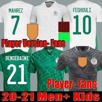2021 2022 Algerie Player-Version Fans Founcer Jersey Home Away Black Specal Mahrez BOUNDJAH FEGHEULI BENNACER ATAL 20 21 22 ALGERIA MAILLOT DE FÜSSE MÄNNER KINDER