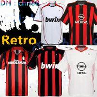 레트로 1990 2000 1962 1963 2007 2002 2003 2004 Milan Gullit 축구 유니폼 1988 96 97 Van Basten Kaka Inzaghi 축구 셔츠