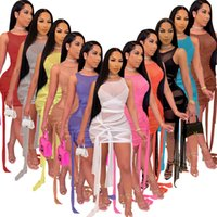Plus taille maille pure robes bandage bandage bandage robe femmes 2021 tenues d'anniversaire vêtements d'été vêtements de fête de fête de soirée sexy