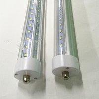 T8 светодиодные лампы V-образные 8FT 7000LM 66W Одиночный PIN FA8 R17D AC85-265V 384LED 2835smd флуоресцентные лампы 2400 мм прямой от Китая завод