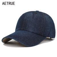 Aetetrue промытые джинсы бейсболка мужские папы Snapback Hats Caps для женщин Falt костяная джинсовая ткань чистый горас Casquette обычная мужская шапка шляпа