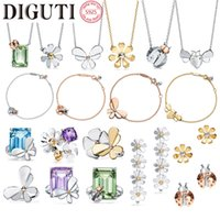 TIF 925 Ayar Gümüş Klasik Stil Bayanlar High-end Böcek Yüzük Orijinal Logosu ile Çin Fabrika Toptan