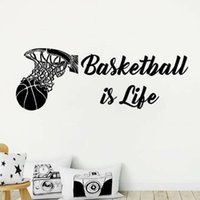 Wall Stickers Basketball Is A Decal For Life, Home Decorations Fans, Living Room Bedroom